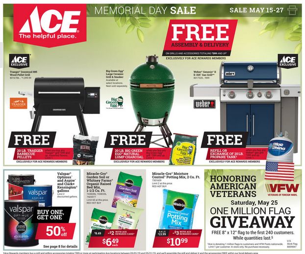 Ace Hardware Memorial Day Savings Flyer